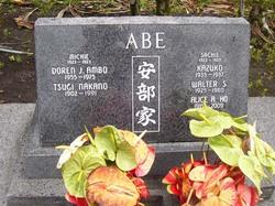 Tsugi <I>Nakano</I> Abe