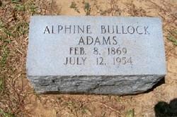 Alphine Bullock Adams