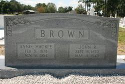 Annie <I>Hackle</I> Brown