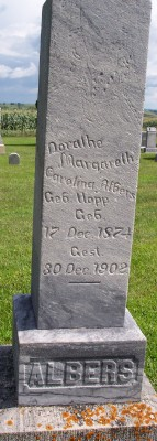 Dorathe Margareth Carolina <I>Hopp</I> Albers