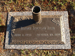 Beatrice <I>Strickland</I> Allen