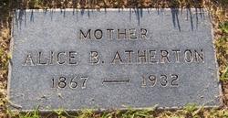 Alice B <I>Williams</I> Atherton