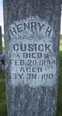 Pvt Henry Harrison Cusick