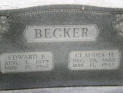 Claudia Hortensia <I>Kunz</I> Becker