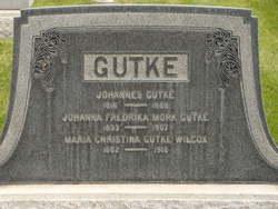 Johanna Fredricka <I>Mork</I> Gutke