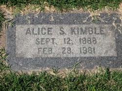 Alice S Kimble
