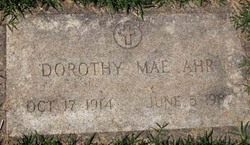 Dorothy Mae <I>Banks</I> Ahr