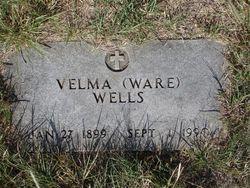 """Vashti E. """"Velma"""" <I>Ware</I> Wells"""