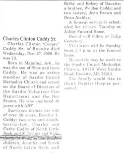 "Charles Clinton ""Cooper"" Caddy, Sr"