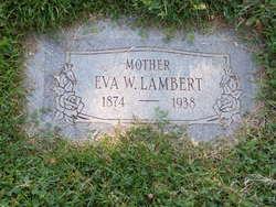 Eva <I>Webb</I> Lambert