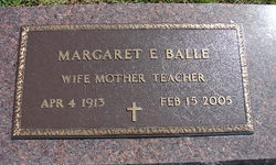 Margaret E <I>Parrish</I> Balle