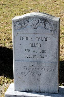 Fannie <I>McLean</I> Allen