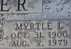 Myrtle Irene <I>Puryear</I> Crider