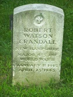 MAJ Robert Watson Crandall
