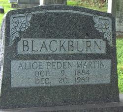 Alice B. <I>Peden</I> Blackburn