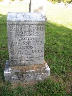 Annie Etta <I>Cobb</I> Adams