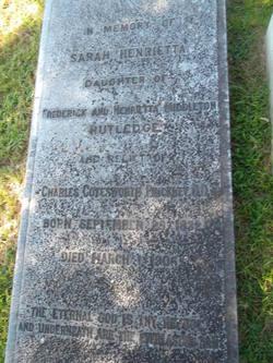 Sarah Henrietta <I>Rutledge</I> Pinckney