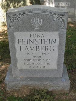 Edna <I>Frager</I> Feinstein Lamberg