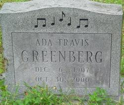 Ada Martha <I>Travis</I> Greenberg
