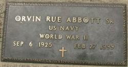"""Orvin Rue """"O. R."""" Abbott, Sr"""