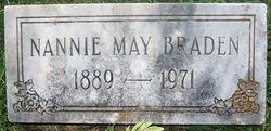 Nannie Elizabeth <I>May</I> Braden