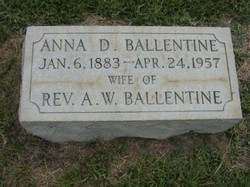 Anna Elizabeth <I>Derrick</I> Ballentine