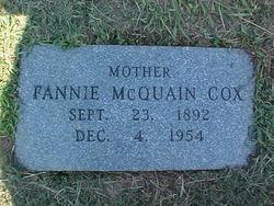 Fannie Dulcie <I>McQuain</I> Cox