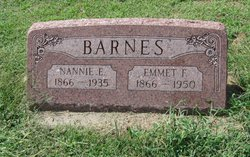 "Nancy E ""Nannie"" <I>Kirkendoll</I> Barnes"