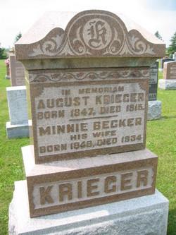 "Wilhelmina ""Minnie"" <I>Becker</I> Krieger"