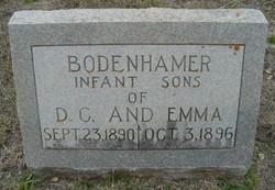 Infant son Bodenhamer
