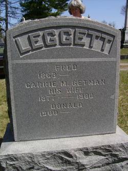 Carrie M <I>Getman</I> Leggett