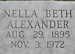 Nella Beth <I>O'Brien</I> Alexander