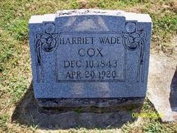 Nancy Harriet <I>Wade</I> Cox