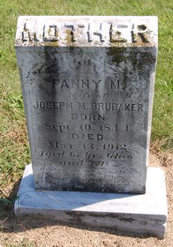 Fanny M <I>Sheetz</I> Brubaker