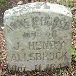Anne E. <I>House</I> Allsbrook