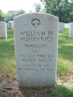 PVT William D. Humphries