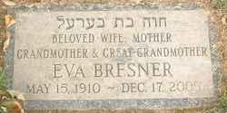 Eva <I>Swerdlow</I> Bresner