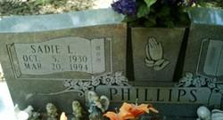 Sadie Louise <I>Mitchell</I> Phillips