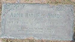 Addie <I>Ratcliff</I> Amador