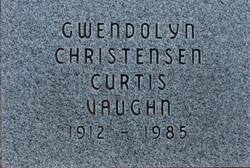 Gwendolyn <I>Christensen</I> Vaughn
