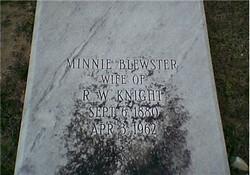 Minnie Priscilla <I>Blewster</I> Knight