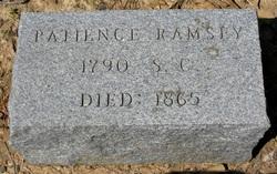 Patience Indexence <I>Mason</I> Ramsey