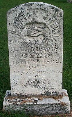Martha Jane <I>Barnes</I> Adams