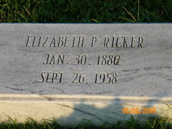 Elizabeth <I>Pennington</I> Ricker