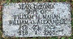 Jean <I>Dezonia</I> Alexander