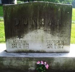 Alice May <I>Mayer</I> Dunbar