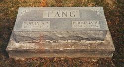 "Permelia Harriet ""Meda"" <I>Barricklow</I> Lang"
