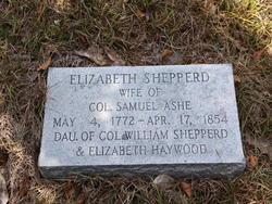 Elizabeth Haywood <I>Shepperd</I> Ashe
