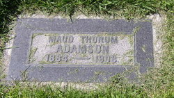 Maud Maryan Anderson <I>Thorum</I> Adamson