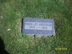 "Emaline Clarinda ""Rinda"" <I>Lee</I> Anderson"